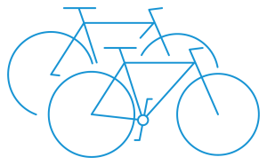 bike rental pictogram blue - Cycle Croatia