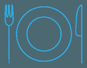 gourmet biking pictogram blue - Cycle Croatia