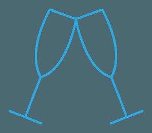wining & biking pictogram blue - Cycle Croatia