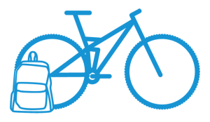 MTB multi day tour pictogram blue - Cycle Croatia