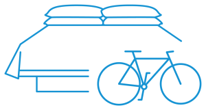 Bike friendly hotels pictogram blue - Cycle Croatia