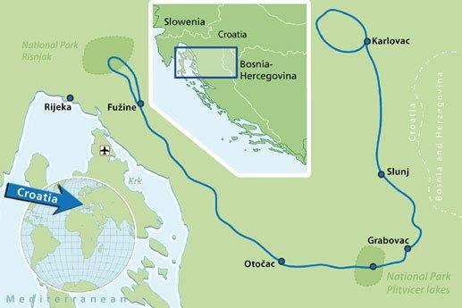 Hotel & Bike multi-day tour North Croatia National Parks - Cycle Croatia