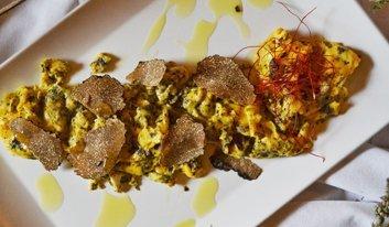 truffle risotto in restaurant Ponte Porton in Istria