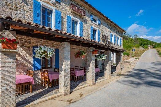Hotel Ponte Porton in Groznjan in Istrien - Außenansicht